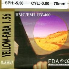 Линзы Maksema ND=1.56 Yellow-Fara HMC/EMI